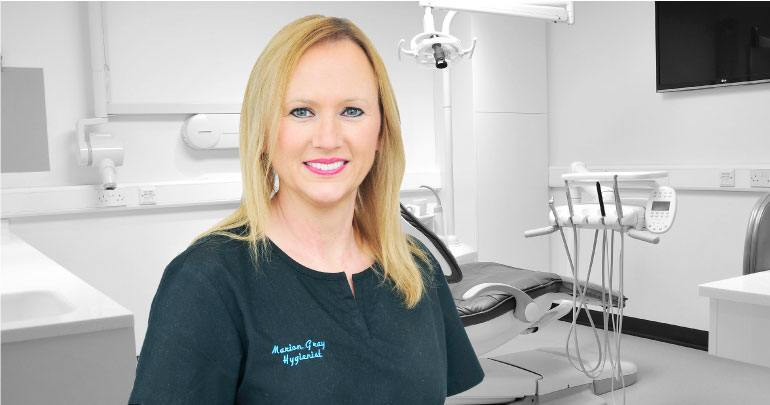 Hygienist Marion Gray